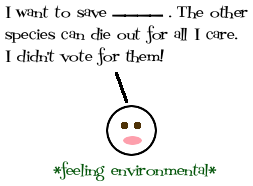 voting for your favourite endangered species