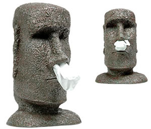 Easter Island head tissue dispenser