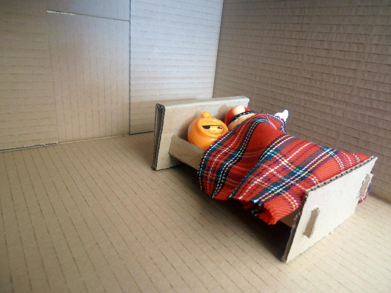 cardboard box bed